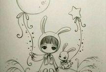 dessin petite fille