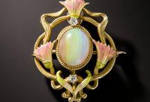 Art nouveau opal