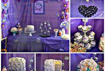 Indie-Rose's purple flower diy party