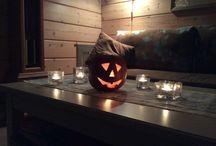 Halloween / Halloween pumpor, olika tillbehör till halloween fest, höstens fester