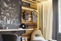 Visual divided rooms