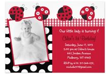 Ladybug Baby Shower/Birthday Party / Pink and red ladybug invitations and party decorations