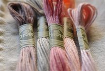 Needlework / Embroidery, punch needle, cross stitch, floss, pearl cotton, dmc, valdani, weeks dye works,