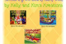 Alphabet / Alphabet centers and activities for prek, kindergarten, first grade, and second grade.