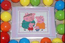 świnka peppa - peppa pig - haft krzyżykowy - cross stitch