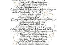 Beauty of handwriting. Krása ručně psaného písma