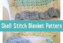 Blanket shell stitch patterns