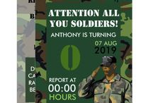 Army themed Birthday Party Suite / Army theme Party package customizable to your specifics.
