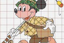 borduurpatroon Disney