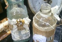 Altered Bottles and Jars