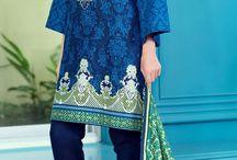 Buy Blue Embroidered Khaddar Salwar Kameez