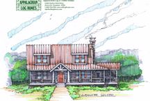 Designer Series / We commissioned Alexander (Alec) Walker, Architect to take six of our popular standard models and create a new Appalachian Log and Timber Homes Designer Series, which we are now offering to the public. Under our general design guidelines, Alec has produced some inspiring and thought-provoking designs.