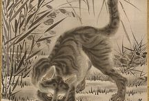 ЯПОНСКАЯ ЖИВОПИСЬ животные  JAPANESE PAINTING animals