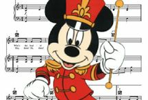 disney inspired sheetmusic with characters / pics of sheetmusic and characters, all from internet, combined into a new piece of ..... not intended for commercial use. thanks to disney and all disney fans for the inspiration.