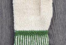 Twijend breien / Tvåëndstickat / Two end knitting