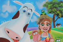 cute Cow paintings / This board contains one of my favourite animals to paint cows!
