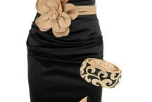 classy dress / Black dress with gold accents / by Amy Latta Herndon