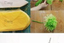 Výroba kvetov, mašličiek atď .... / Návody, ukážky