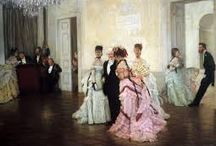 James Tissot / Inspiring use of color and composition by this contemporary to the impressionists.