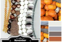 Pretty Palettes :: November 2014 / Create your own beaded project along with the rest of the Halcraft Design Team each month, with Erin Prais-Hintz' color inspired Pretty Palette blog hop! We can't wait to see YOUR designs each month!