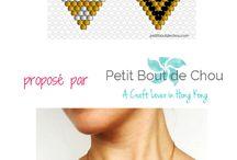 Bijoux brickstitch