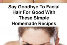 Ansiktsbehandlinger, hår fjerning ansiktet