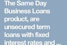 Business Cash Flow Loan / The Same Day Business Loans product, are unsecured term loans with fixed interest rates and fixed monthly payments. No collateral required.