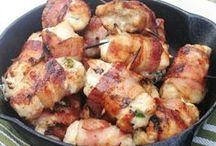 filé frango e bacon