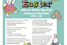 Children's Easter Colouring Competition / Colour-in Fun for Easter!  Get creative this Easter (2016) with our Colour-in Easter Egg Hunt Tablecloth (CP011).  Win a box of Lego and a pile of Phoenix goodies (approximate value £75 / €110 / AU$150 / NZ$170)  The winner will be the best young artist who shows the most promise, as chosen by the Creative Team at Phoenix Trading.  The competition is open to children aged 14 years and under.