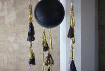 black&gold balloons