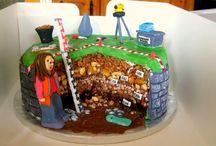 Kinderfeestje taarten archeologie