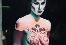 Body painting / Modelle dipinte come tele
