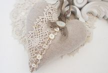 linen hearts...thinking for my new home