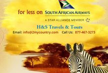 Airline Ticket / More of #Africa for less on #South African Airways A STAR ALLIANCE MEMBER H & S Travel & Tours  For more information you can reach us @ info@2mycountry.com Hours of Operation: 24 Hours - 7 Days a Week