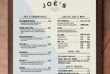 Menu Design & Stand Ideas / Menu stands and ways of displaying your menu on tables, walls and more.