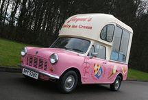 Mini ice cream van / Fotos de furgonetas de helados hechas con un Mini. http://www.restaurandounmini.com/mini-ice-cream-van/