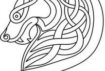 Viking design, mønster, runer...
