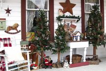 Christmas Porches & Patios / Porches, Patios decorated for the Holidays