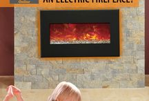 Electric Fireplaces / Electric fireplaces are more eco-friendly than wood burning or gas burning fireplaces!  Most electric fireplaces are safer to use in bedrooms and basements.  With modern new designs, better heat functions, and realistic looking flames - everyone needs one in their home!