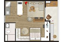 Bungalow Floorplan Ideas / Ideas from apartment floor-plans to give an idea of size.