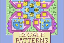 Escape Patterns: Adult Coloring Book of Kaleidoscopic Patterns & Designs / This adult coloring book contains fifty kaleidoscopic mandala like designs and geometric patterns. There will be something you will like. Designs vary... do the simple if you want to go easy – do the complex if you want a challenge. The designs are printed on only one side of a sheet to avoid accidentally coloring the design underneath. They become unique pieces of art from your personal touch. Enjoy these creation for yourself or give them as gifts to those you know will appreciate them. / by Escape Patterns