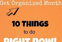 Organization tips - Järjestely vinkkejä