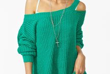 Sweater / One shoulder