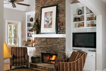 ~hearth~ / Moving into a new home with a stone fireplace. Looking for ideas... / by Eliza - SilhouettemyPet