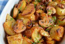cartofi noi la cuptor cu ciuperci