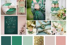 Green wedding colour schemes / Wedding colour palettes
