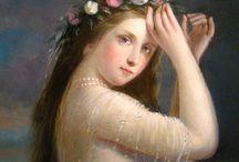 Femmes et fleurs en peinture