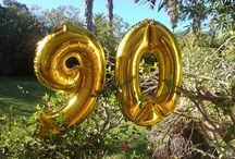 90th Birthday Party by Marina Charnock / Decorations for a masculine Birthday Party