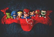 Newborn superhero photography