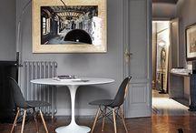 grey,black,white,silver decor